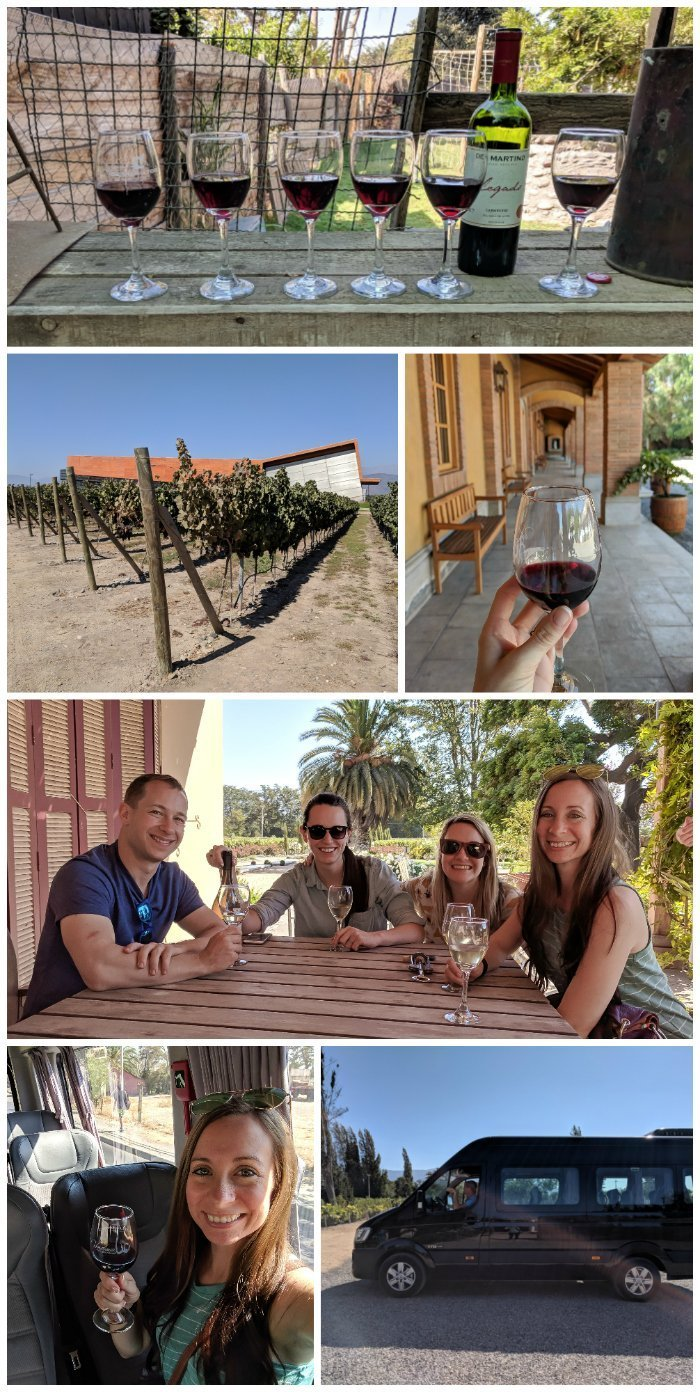 How to Spend One Week in Chile and Cover All the Bases | Wine tasting outside Santiago on the Maipo Valley Little Wine Bus #chile #whattodoinchile #weekinchile #winetasting #wine #maipovalley