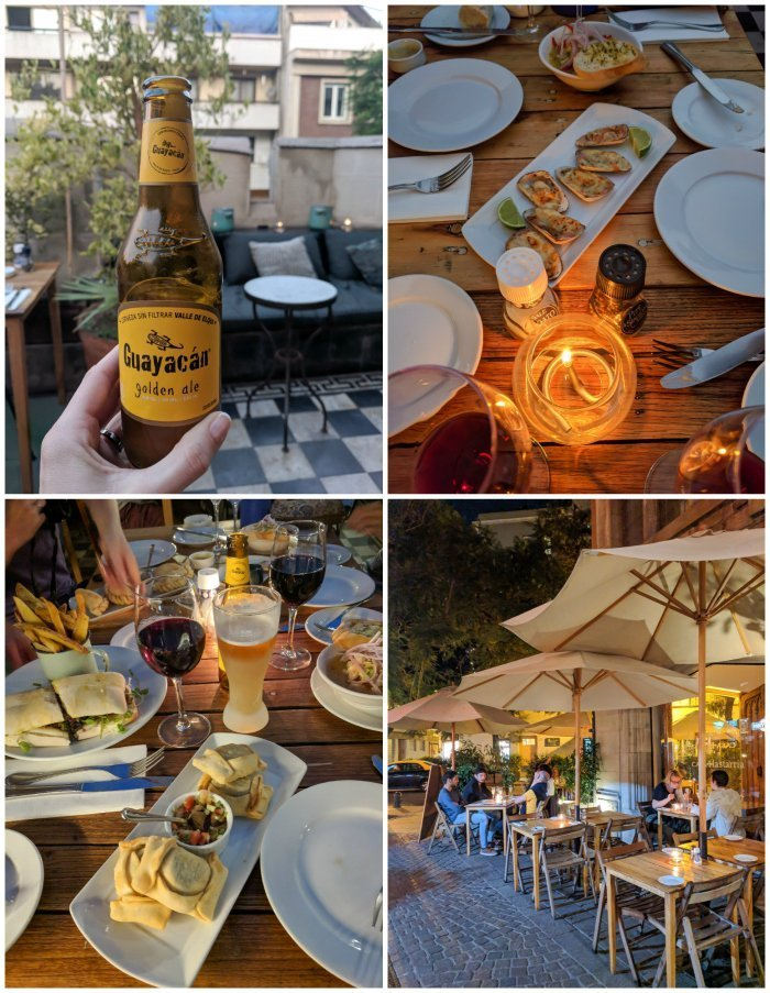 How to Spend One Week in Chile and Cover All the Bases   Santiago and dinner at Casa Lastarria in Barrio Lastarria #santiago #chile #empanadas #aerialviews #casalastarria #whattodoinchile #weekinchile #rooftop
