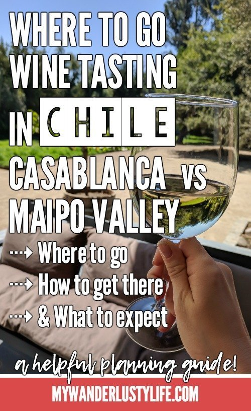 Wine Tasting in Chile: Casablanca vs. Maipo Valley | How to decide where to go wine tasting in Chile | Casablanca valley wineries like Viña Emiliana, Casas del Bosque and Bodegas RE | Maipo Valley Little Wine Bus, De Martino vineyard, and more.