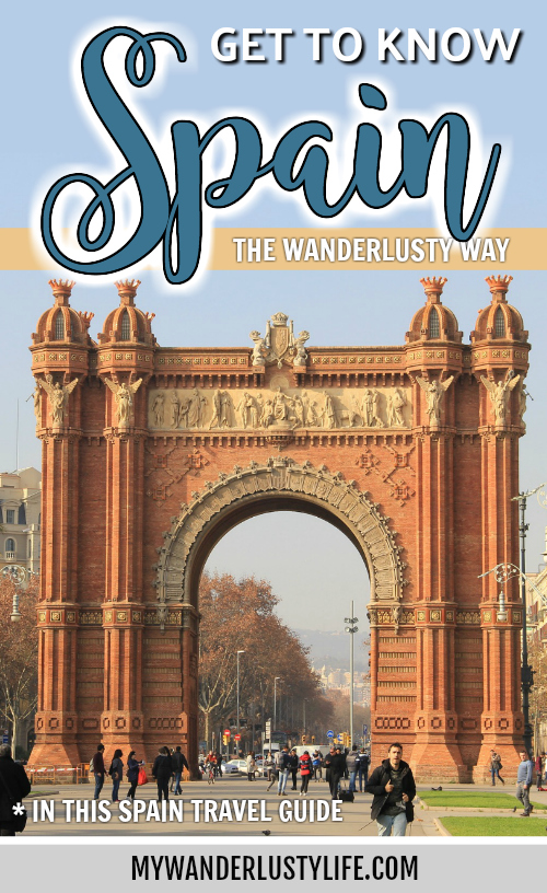 spain travel guide pin