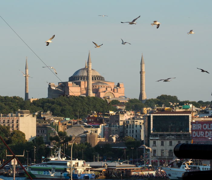 The Hagia Sophia in Istanbul, Turkey