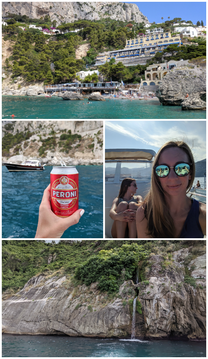 5 days in sorrento, italy + amalfi coast, day trip to Capri, boat tour, waterfalls #sorrento #italy #capri #daytrip