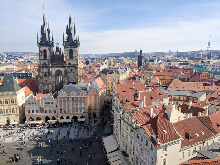 Astronomical Clock Tower / Old Town Hall Tower crowd | Cool Prague Experiences | Czech Republic / Czechia | What to do in Prague, best prague things to see and do