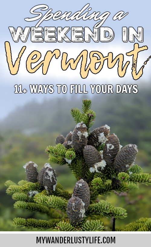 11 Ways to Fill Your Days During a Weekend in Vermont | Craft beer, farmers market, bed and breakfast hiking in the mountains, von trapp family lodge, shopping, history, etc. #vermont #newengland #fall #autumn