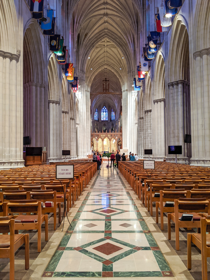 Interior of Washington National Cathedral   Another long weekend in Washington, D.C.