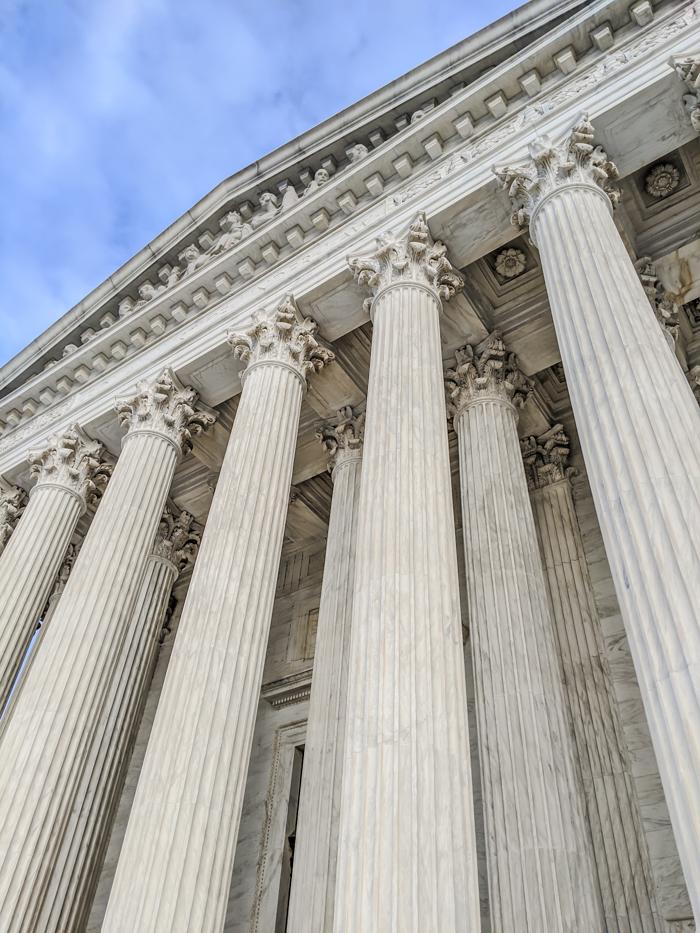Supreme Court pillars   Another long weekend in Washington, D.C.