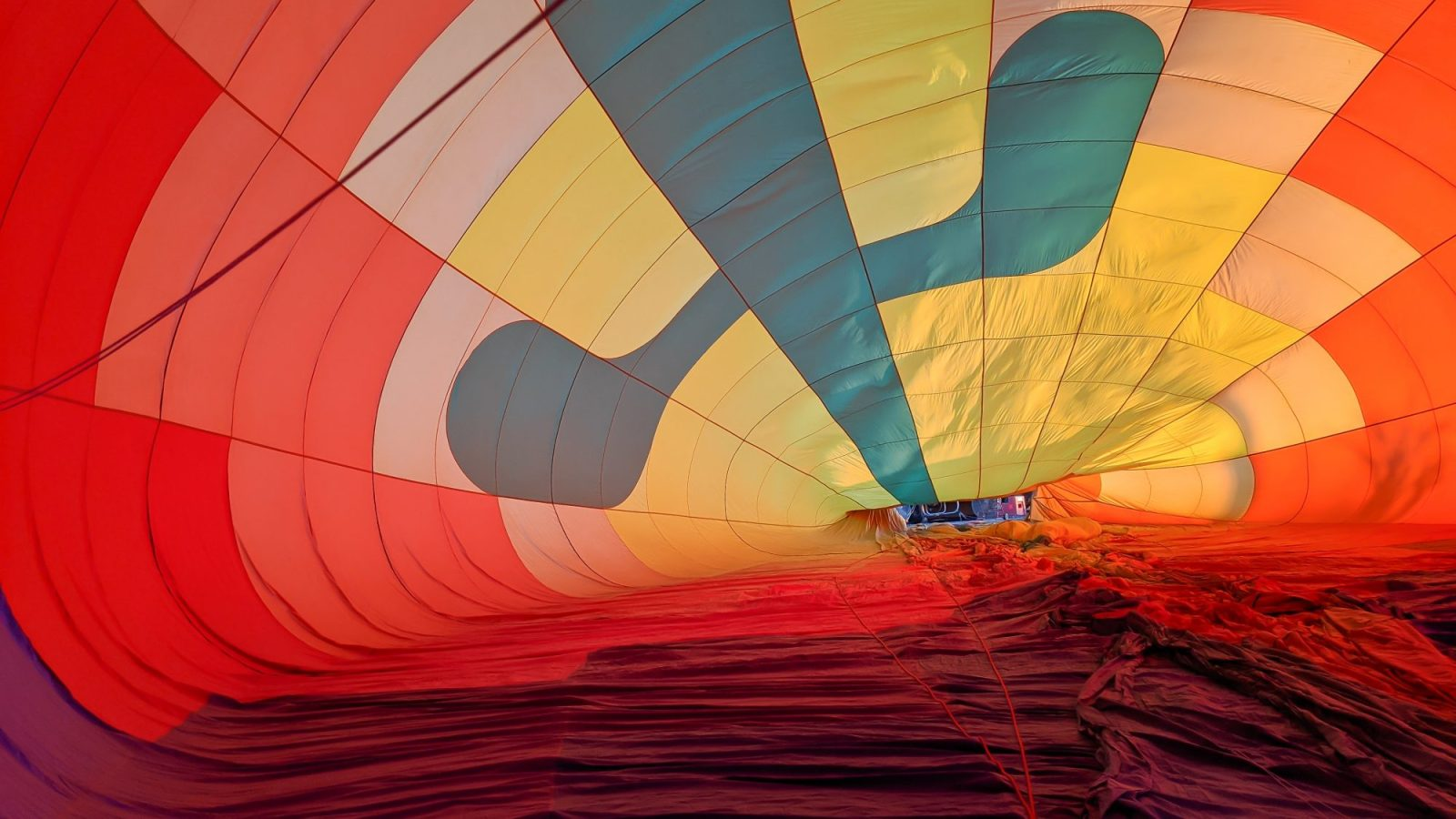 Inside the balloon as they're blowing it up | What You Need to Know for Your Sunrise Hot Air Balloon Ride in Arizona | Scottsdale and Phoenix, Arizona hot air balloon rides with Hot Air Expeditions