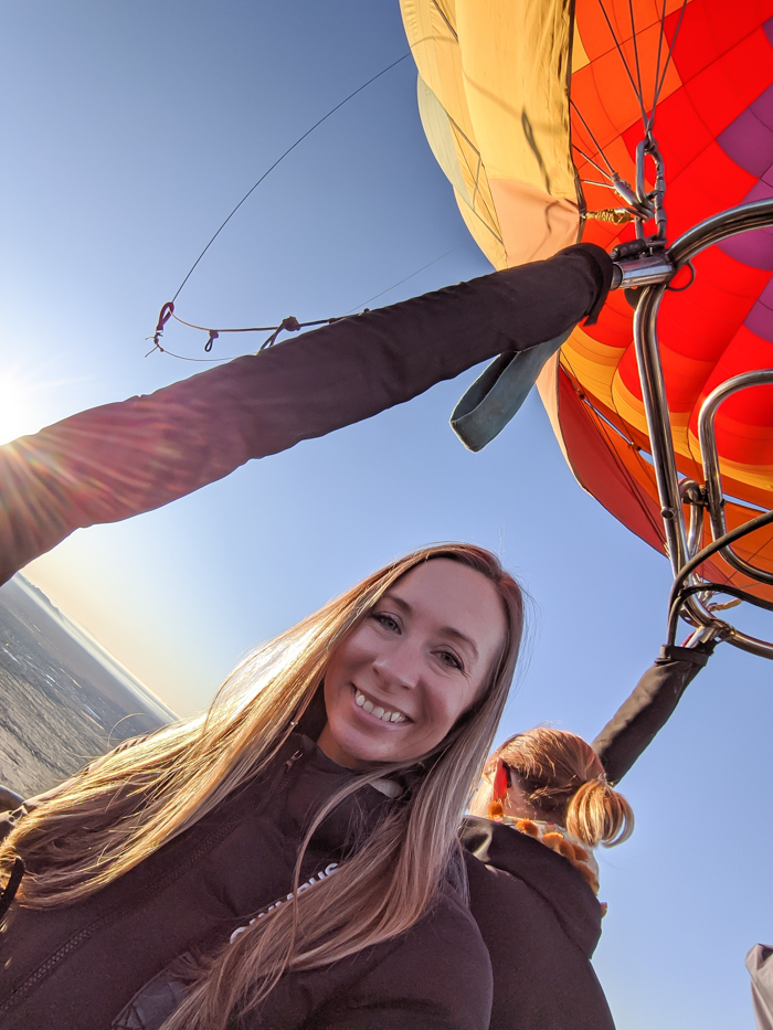 selfie | What You Need to Know for Your Sunrise Hot Air Balloon Ride in Arizona | Scottsdale and Phoenix, Arizona hot air balloon rides with Hot Air Expeditions