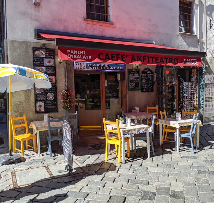 Caffe Anfiteatro for lunch | How to Spend 1 Day in Aosta, Italy // The Capital of the Aosta Valley | Things to see in Aosta, Things to do in Aosta, Where to eat in Aosta, the smallest of Italy's 20 regions #aosta #italy #aostavalley #traveltips #timebudgettravel #romanruins #ancient #ruins