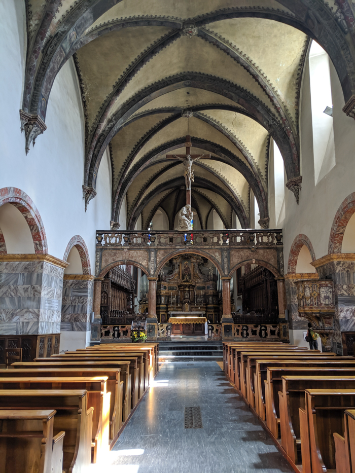 Collegiate Church and Cloister of Saint Orso | How to Spend 1 Day in Aosta, Italy // The Capital of the Aosta Valley | Things to see in Aosta, Things to do in Aosta, Where to eat in Aosta, the smallest of Italy's 20 regions #aosta #italy #aostavalley #traveltips #timebudgettravel #romanruins #ancient #ruins #church