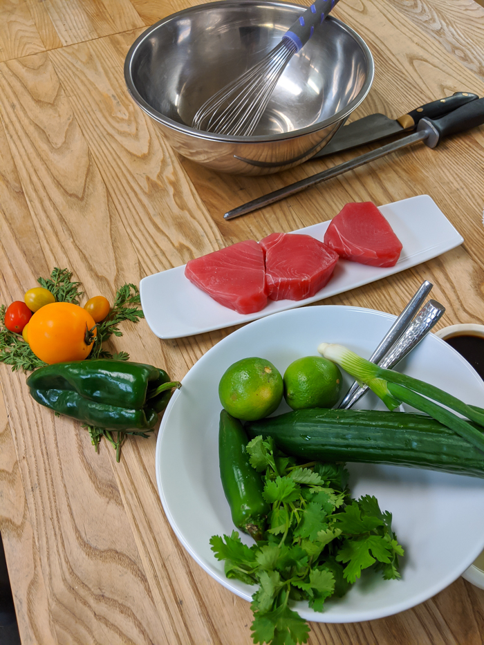 4 Days in Scottsdale, Arizona // A Jam-Packed Itinerary With a Bit of Everything   Things to do in Scottsdale: Culinary demonstration at Civana, chefs and sashimi #scottsdale #spa #civana #cookingclass