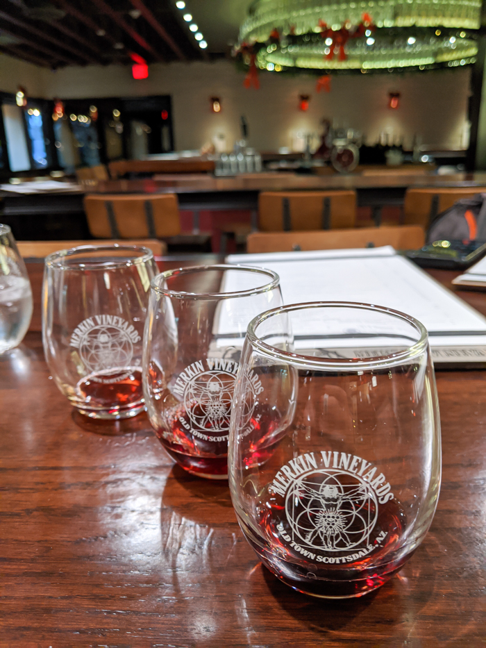 4 Days in Scottsdale, Arizona // A Jam-Packed Itinerary With a Bit of Everything | Where to drink in Scottsdale: Merkin Vineyards #winetasting #winery #scottsdale #tool