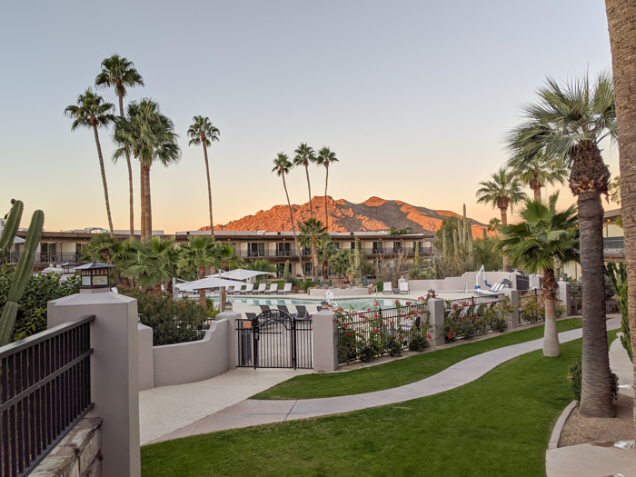 Main pool area at Civana Wellness Resort and Spa | Where to Stay in Scottsdale, Arizona for two very different experiences | #civana #spa #scottsdale #arizona #wheretostay