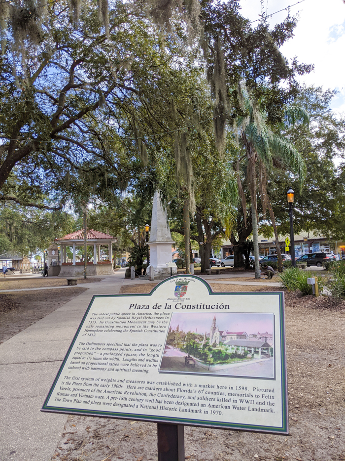 Plaza de la Constitucion / 1 day in St. Augustine, Florida: A quick trip to America's oldest city / 24 hours in St. Augustine / day trip to St. Augustine from Jacksonville or day trip to St. Augustine from Orlando