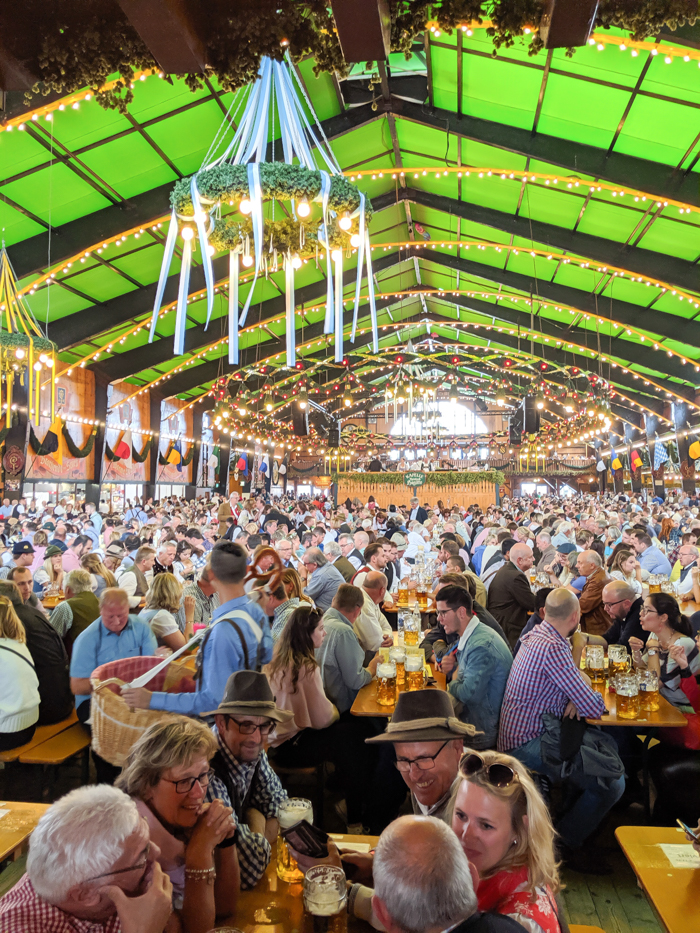 Inside the Augustiner tent / Must-Know Oktoberfest tips from an Oktoberfest tour guide and locals / what you need to know about oktoberfest in munich, germany