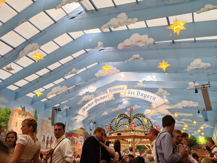 closing ceremony in Hacker tent / Must-Know Oktoberfest tips from an Oktoberfest tour guide and locals / what you need to know about oktoberfest in munich, germany