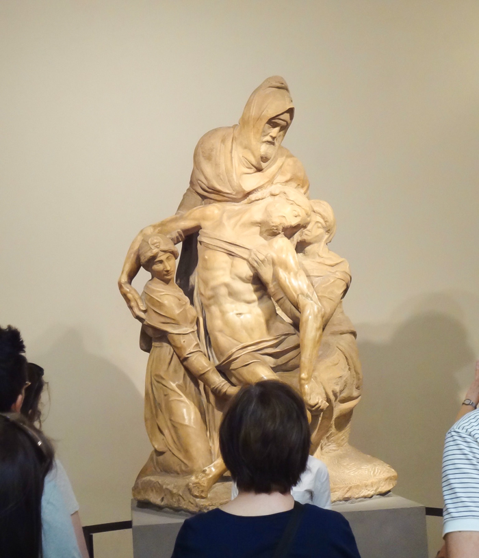 Michelangelo The Deposition, inside Museo dell'Opera del Duomo art museum / 2 days in Florence, Italy