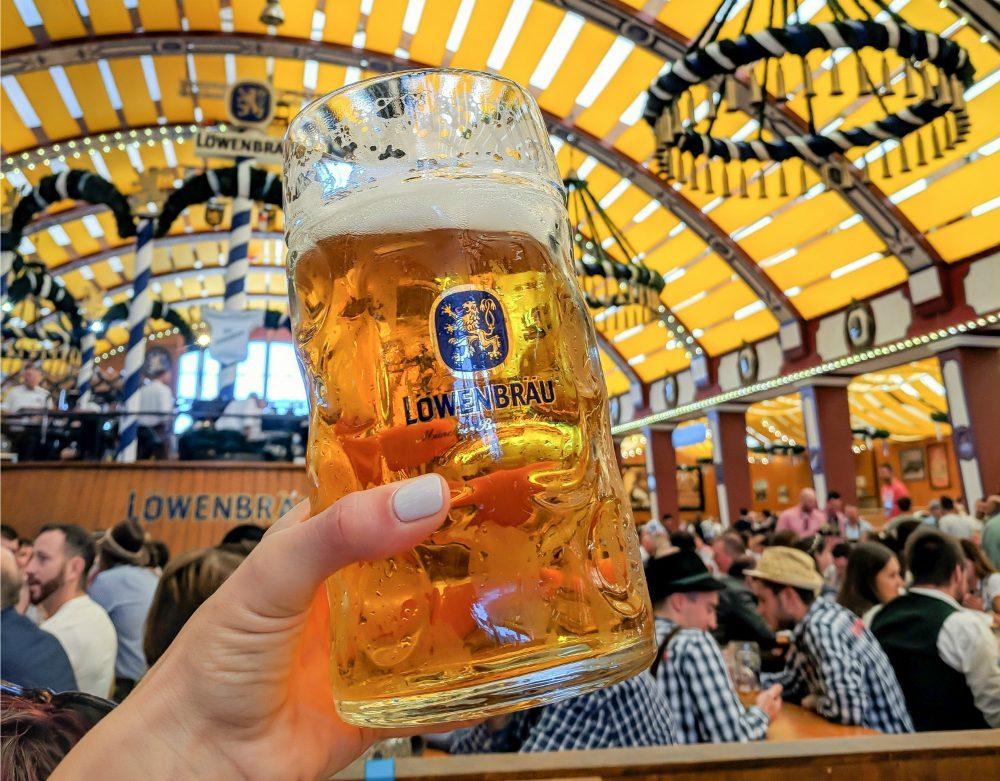 Oktoberfest party beer: What kind of beer to serve at your oktoberfest party | Lowenbrau mass at Oktoberfest in Munich, Germany #oktoberfest #munich #germany #beer #festival #mywanderlustylife