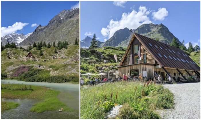 Day trip to Courmayeur, Italy from Chamonix, France / best day hike from courmayeur, val veny, cabane du combal