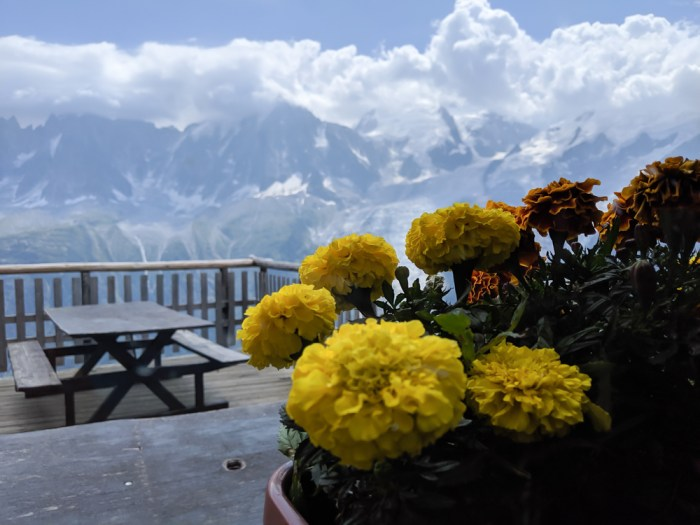 Awesome things to do in Chamonix in the summer: Alpine bucket list / Refuge Bellachat patio