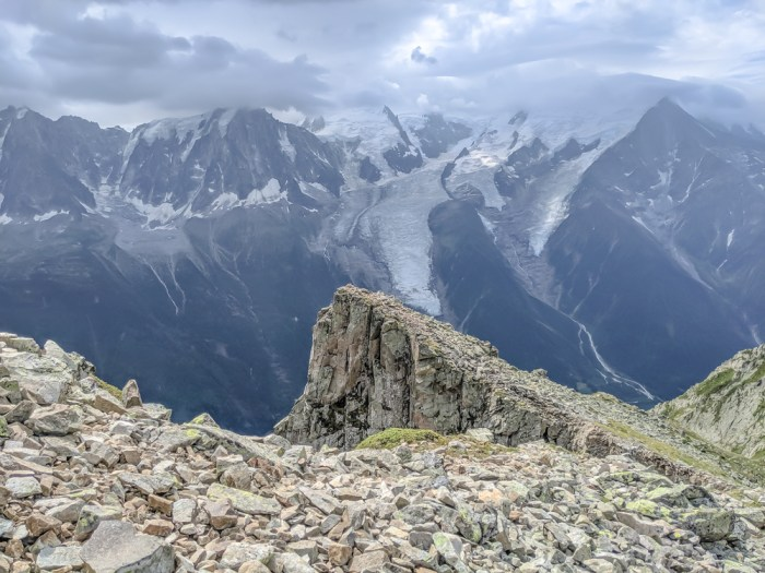 Best hikes in Chamonix: Plan de l'Aiguille to Mer de Glace and Montenvers on the Grand Balcon Nord / best day hikes in Chamonix / Mer de glace glacier, hiking in chamonix / the view from Le Brevent