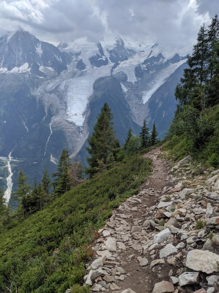 Best hikes in Chamonix: Plan de l'Aiguille to Mer de Glace and Montenvers on the Grand Balcon Nord / best day hikes in Chamonix / Mer de glace glacier, hiking in chamonix / the view on the way to Merlet