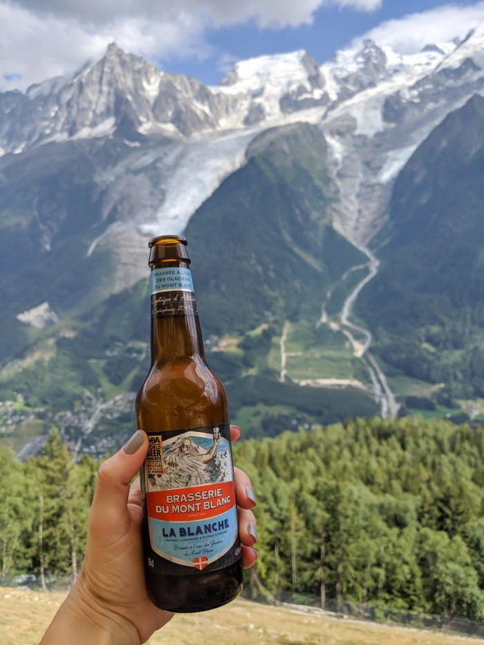 Awesome things to do in Chamonix in the summer: Alpine bucket list / Brasserie du Mont Blanc beer blanche
