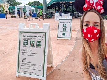 Visiting Disney World During the Pandemic: Everything You're Dying to Know | Disney World in 2020, what it's like to visit disney world right now. #mywanderlustylife #travelin2020 #disneyworld #disney #epcot #hollywoodstudios #disneysprings #waltdisneyworld #disney2020