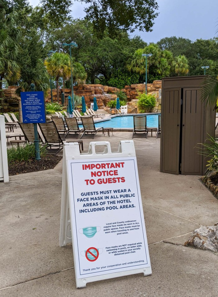 Visiting Disney World During the Pandemic: Everything You're Dying to Know | Disney World in 2020, what it's like to visit disney world right now. | swan dolphin pool area masks