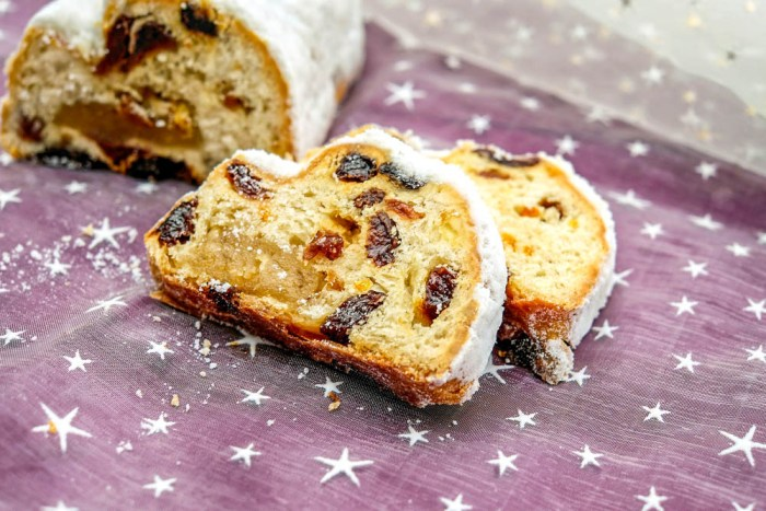 stollen fruit cake bread for german christmas