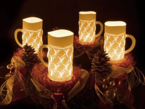 oktoberfest gift ideas, perfect gifts for oktoberfest lovers: beer mug lanterns