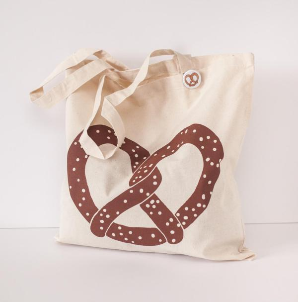 oktoberfest gift ideas, perfect gifts for oktoberfest lovers: pretzel tote bag