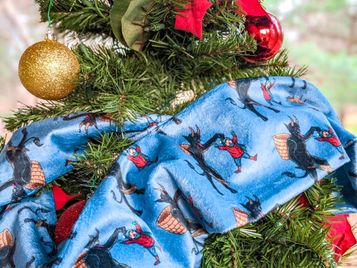 How to recreate a German Christmas market at home: Invite Krampus to the party - Rare Dirndl 2020 Krampus scarf
