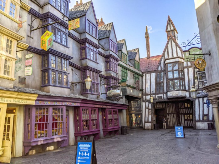 Empty Diagon Alley at Universal During the pandemic