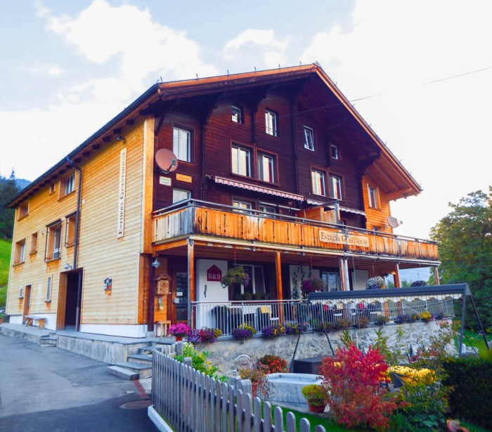 Esther's Guesthouse | Where to stay in Gimmelwald, Switzerland: Mountain Hostels and B&Bs | Best places to stay in Gimmelwald