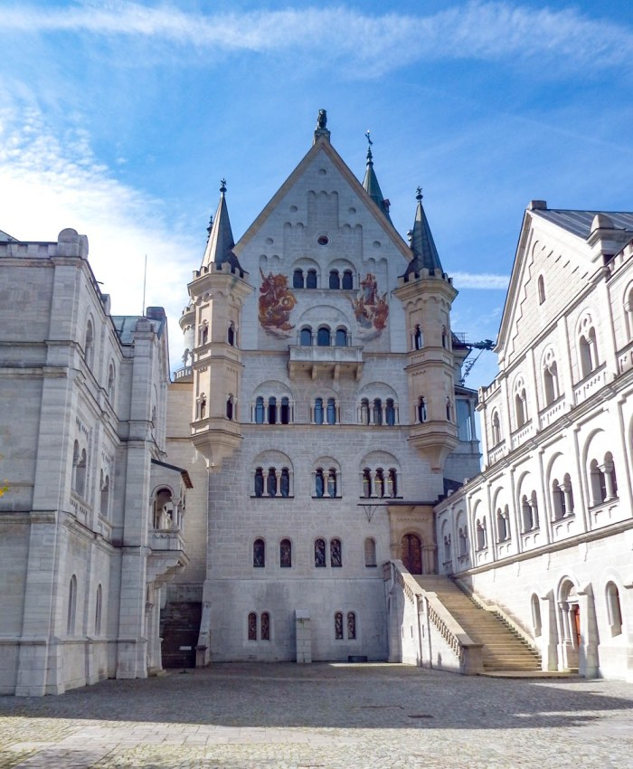 Main courtyard   10 Crucial Tips to Visit Neuschwanstein Castle Skillfully and Worry-Free   Tips for visiting Neuschwanstein Castle in Bavaria, Germany   Neuschwanstein Castle tour tickets