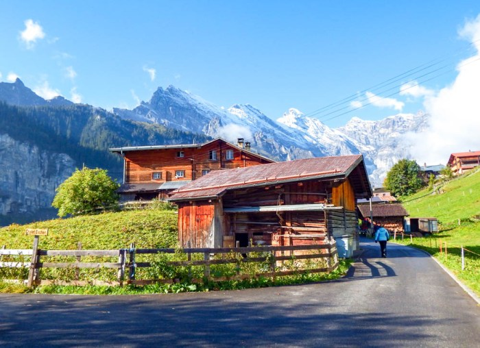 Mountain huts in the Swiss Alps | Where to stay in Gimmelwald, Switzerland: Mountain Hostels and B&Bs | Best places to stay in Gimmelwald