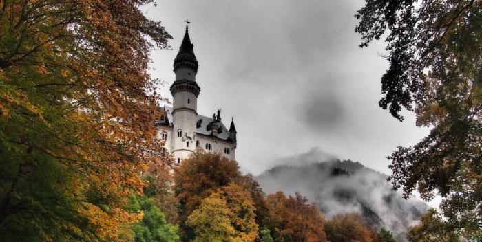 Neuschwanstein Castle in the fall | Where to stay near Neuschwanstein Castle: 12 Best Hotels and Airbnbs in Hohenschwangau, Schwangau, and Füssen