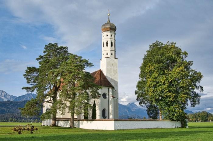 church in Schwangau, Germany | Where to stay near Neuschwanstein Castle: 12 Best Hotels and Airbnbs in Hohenschwangau, Schwangau, and Füssen