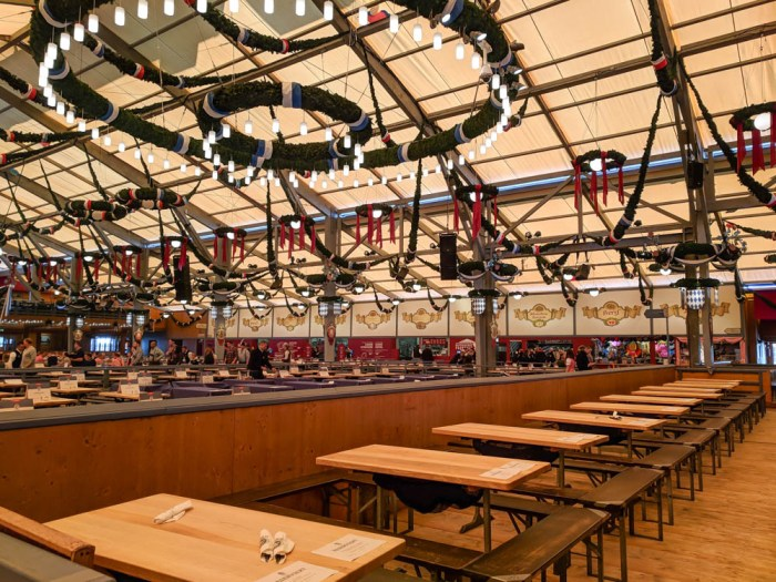 Empty Schottenhamel tent | Will Oktoberfest 2021 take place? Is Oktoberfest 2021 going to be canceled? All the info you need to know like what to do, how to plan ahead, official announcements out of Munich, Germany