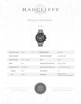 FS- Rolex 116500 Daytona Ceramic Cosmograph 116500LN