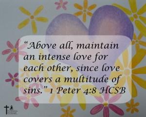 Heart, Flowers 1 Peter 4:8