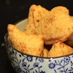Hot samosas on a rainy day - monsoon snacks
