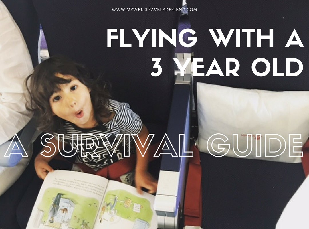 Flying with a 3 year old, a survival guide. www.mywelltraveledfriend.com