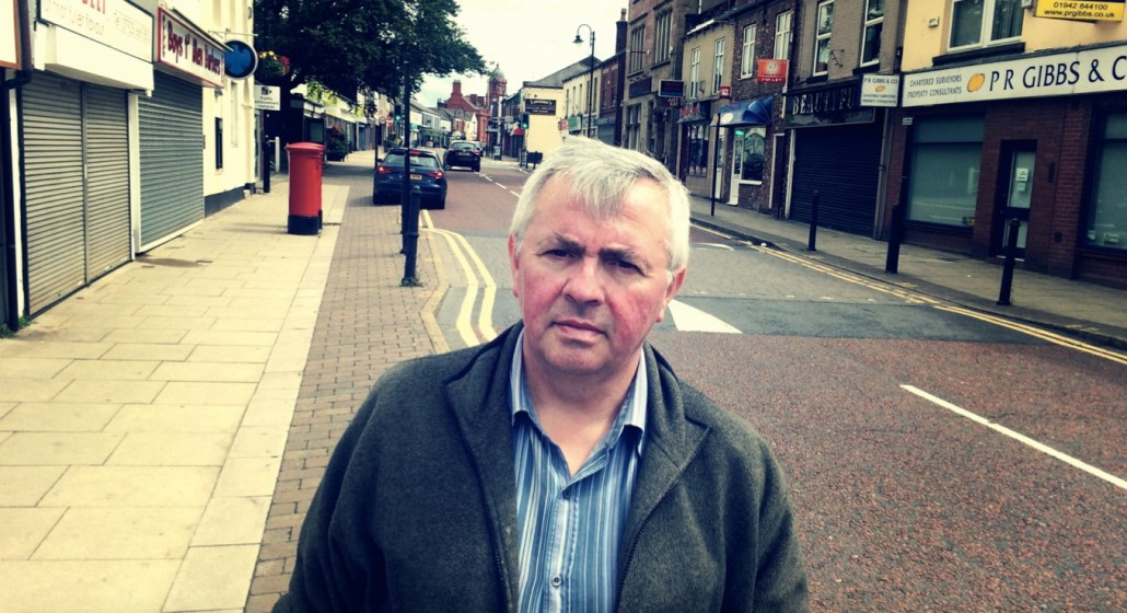 Councillor David Wilkinson on Market Street