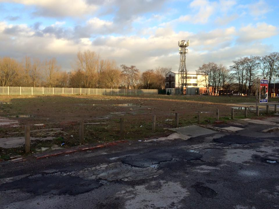 The site looking toward Bolton Road