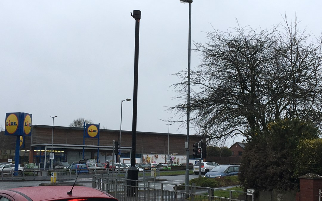 What is this mystery pole near Lidl and why did it appear overnight?