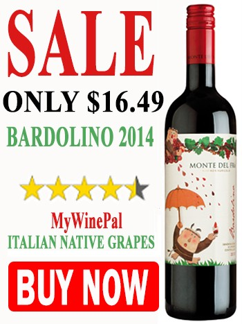 Buy Italian Monte del Fra Bardolino wine on sale