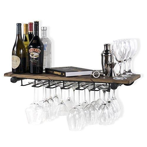 18 Pc Wine Glass Rack Under Cabinet Hanging Stemware Hanger Holder Organizer