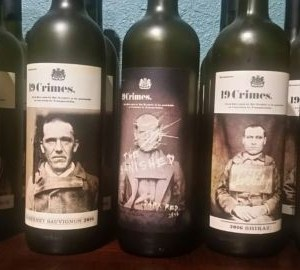 19 Crimes Frosted Olive Green Glass Empty Wine Making Bottle Crafts Bordeaux S/3